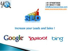 http://www.yourseoservices.com/, call @ 9740873926 or 8042111388 For Best SEO Services in Bangalore.Your SEO Services  is  India's top SEO Company, based in Bangalore, India. we are a complete Internet and SEO Marketing company provider that consults and implements your entire web promotion strategy. This includes everything from re-designing your website, to SEO services, to Social Media Optimization to developing online applications to engage your customers. http://www.yourseoservices.com/