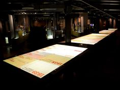 Churchill Museum (Cabinet War Rooms) interactive timeline table