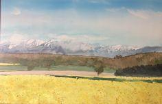 Aquarelle Mountains, Nature, Travel, Painting, Art, Watercolor Painting, Art Background, Naturaleza, Viajes