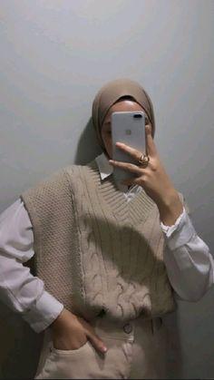 Modest Fashion Hijab, Modern Hijab Fashion, Street Hijab Fashion, Casual Hijab Outfit, Muslim Fashion, Modest Outfits, Casual Outfits, Cute Outfits, Hijab Style Tutorial