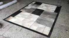 Gray And Black Patchwork Cowhide Area Rug Luxury Newest Fur Leather Rugs And Carpets #Affiliate
