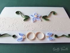 Paper Quilled Wedding Invitation Wedding by quillivanilli on Etsy