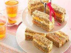 Egg, Smoked Salmon and Cucumber Double Decker Sandwiches | Tea Time Recipes and Things