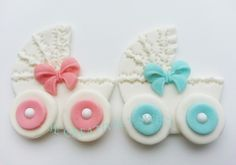 Baby Strollet Bassinet Girl Boy Twins Sugarpaste Edible Gumpaste Fondant Cake Cupcake Cookies toppers by JECreativelySweet on Etsy