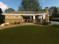 Pool House Plan with Covered Patio & 2 Changing Rooms Pool Deck Plans, Pool House Plans, Gazebo Plans, Patio Plans, Barn Plans, Garage Plans, Shed Plans, Building A Garage, Building Plans