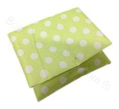 Sacchetto cuscino verde pois bianchi Compleanno Fai da Te