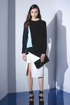 BCBG Max Azria's strong silhouettes and graphic elements offer serious edge for fall '14. [Photo by George Chinsee]