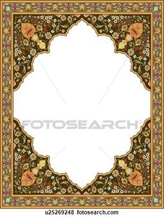 Brown floral frame with diamond copy space View Large Clip Art Graphic