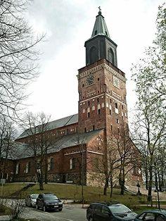 Historic church in Turku. The oldest part of the church date to the 14th century - Turun tuomiokirkko,Finland