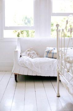white floor boards