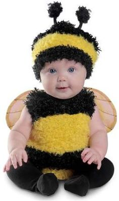 Your bundle of joy will look as cute as a bug with this Anne Geddes Bumble Bee costume for babies. This fuzzy and soft insect costume will make your baby look just like those adorable models from Anne Geddes' world-famous photographs. Cute Baby Halloween Costumes, Halloween Bebes, Baby First Halloween, Toddler Costumes, Cute Costumes, Halloween Fancy Dress, Baby Bumble Bee Costume, Newborn Costumes, Scary Costumes