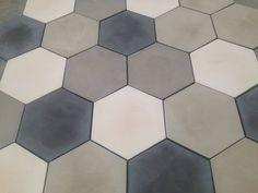 Hexagonal concrete tiles