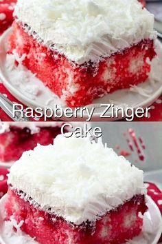 Raspberry Zinger Cake, Vanilla Cake, Treats, Breakfast, Desserts, Food, Sweet Like Candy, Morning Coffee, Tailgate Desserts