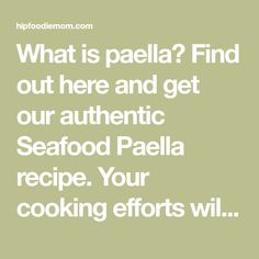 What is paella? Find out here and get our authentic Seafood Paella recipe. Your cooking efforts will yield spectacular results! Saffron Recipes, Seafood Stock, Seafood Paella, Paella Recipe, Fresh Seafood, Mussels, Cherry Tomatoes, Seafood Recipes, Spicy