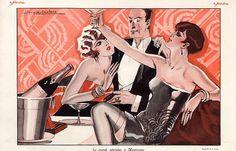 Le Sourire Jacques Leclerc 1926 Elegants Attractive Girls Cabaret Champain Roaring Twenties Julien Jacques Leclerc   Hprints.com