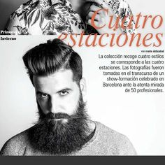 """Es un placer y un orgullo aparecer en la publicación bimensual de la revista C&C Magazine @planetlookcom ________________________________ Colección """"4 Estaciones"""" by Jose Navarro @newbarber.cat  PHOTO @isaac_pipa  MAKEUP @laraguell ________________________________ #hairstyle #barber #beard #barba #estetica #editorial #makeup #barcelona #peluqueria #model"""