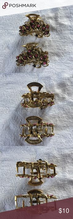 Pair Binder Clips - Stocking Stuffer New!  Jeweled bird binder clips. These are very pretty hair accessories!  Price is for the set. Accessories Hair Accessories