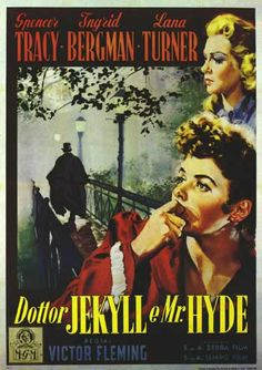 DR. JEKYLL AND MR. HYDE Movie Poster--nice mystery shown in the depth of the background.