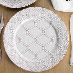 Fleur De Lis Dinner Plate | Gift | Mud Pie