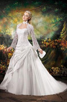 Templom Court uszály  Ujjatlan Menyasszonyi ruhák duciknak