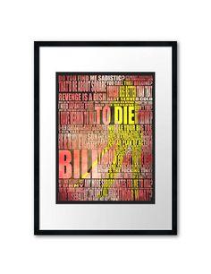 Kill Bill art print 420mm x 297mm by purplecactusdesign on Etsy