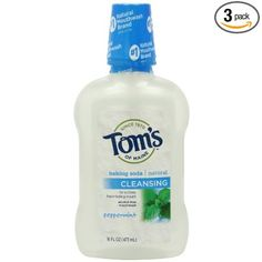 Tom's of Maine mouthwash.
