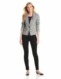 Anne Klein Women's Petite Glen Plaid Blazer:Price: $189.00