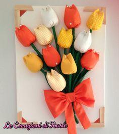 Quadro con tulipani di stoffa | ... z | Pinterest | Felt flowers and ...