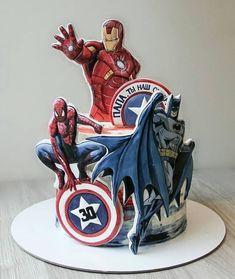 Birthday Cake Decorating Ideas Unique 63 Ideas For 2019 Pastel Avengers, Superhero Birthday Cake, Cake Birthday, Birthday Kids, Marvel Cake, Avenger Cake, Cake Models, Fantasy Cake, Character Cakes