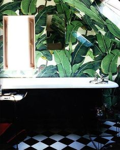 Banana Leaf Bathroom