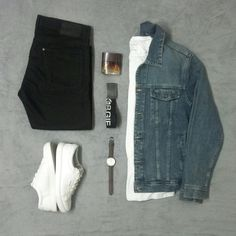 Jeans H&M, Jeans Jacket , t-shirt SW states , sneakers Jack Jones