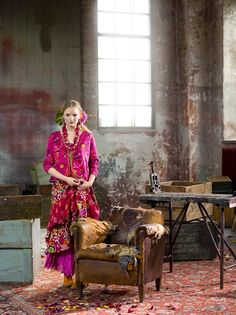 amazing colours and patterns on clothes by Gudrun Sjoden
