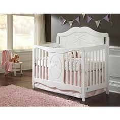 "Stork Craft Princess 4-in-1 Fixed Side Convertible Crib - White - Storkcraft - Babies ""R"" Us"