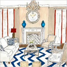 love this living room sketch