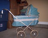 Vintage Baby Stoller Carriage Buggy 1950's