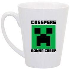 Minecraft Creepers Gonna Creep coffee mug by perksofaurora on Etsy, $16.00  Minecraft, Creeper, Coffee Mug, Funny Coffee Mug