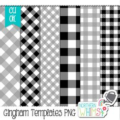 Gingham Paper Templates - Photoshop Templates – gingham templates for scrapbook kit design – psd templates – PNG templates - commercial use