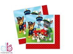 Ruim 20 kleurrijke papieren Paw Patrol servetten, om het themafeest helemaal compleet te maken!