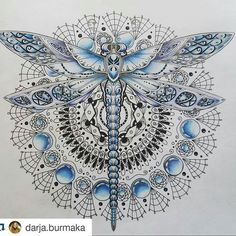 Ideas tattoo mandala butterfly dragon flies for 2019 Mandala Flower Tattoos, Butterfly Mandala, Butterfly Dragon, Dragonfly Tattoo Design, Dragonfly Art, Flower Tattoo Designs, Dragonfly Drawing, Dragonfly Painting, Mandala Nature