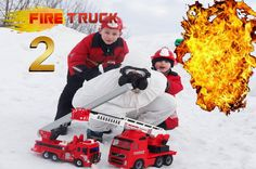 Little firefighters Fire truck toys! Fire trucks for children |Rescue fi...