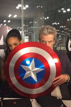 Candidates for Captain America and Black Widow? #DoctorWho #PeterCapaldi #PearlMackie #ComicCon
