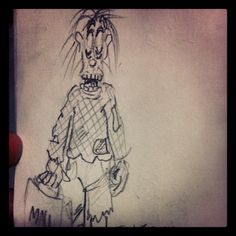 @daily___doodle #daily___doodle #ZOMBIE #doodle #drawing #sketch #cartoon #shopper