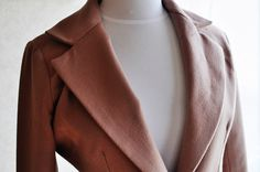 butterick 4610 modification camel wool coat by vivat veritas