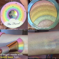 Too faced unicorn brush and rainbow highlighter