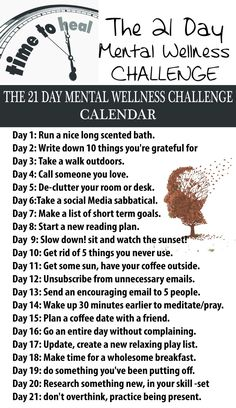 We all need to reserve ourselves a period in which to concentrate on ourselves and our soul, mental state. The hardest part is to get started and establish what we need to do. for that, the following list will get you started. Follow wit for 21 days and you'll see how far you can get. …
