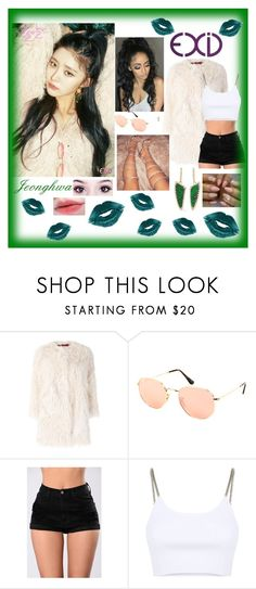 """""""Jeonghwa EXID"""" by princesscupid98 ❤ liked on Polyvore featuring Zadig & Voltaire, Ray-Ban, Alexander Wang and Kimberly McDonald"""