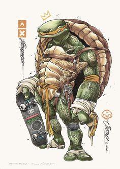 BROTHERTEDD.COM - pixalry: Ninja Turtles! - Created by Clog Two Ninja Turtles, Clogs, Clog Sandals