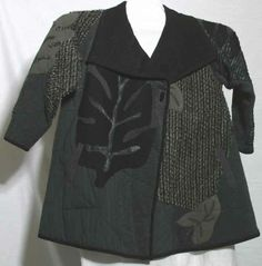 Koos jacket with leather applique