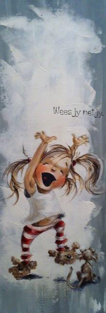 Rache - Wees net jy! - Alice Art Gallery A Blessing, Art Girl, Art Gallery, Alice, Wall Art, Drawings, Children, Illustration, Artist