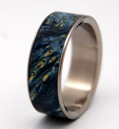 Shooting Stars - Titanium + Blue box elder wood. $197 (+2.50 shipping) -- Reminds me of Van Gogh's Starry Night! (NEED)